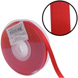 Raso 1 cara 10 mm Rojo