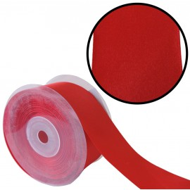 Raso 1 cara 40 mm Rojo