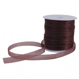 Cinta Organza 6 mm Marron