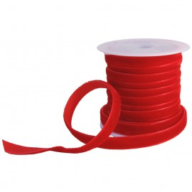 Cinta Terciopelo 7mm Rojo