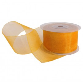 Cinta Organza 40 mm Amarillo