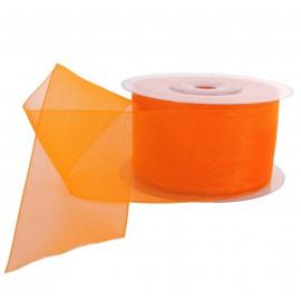 Cinta Organza 40 mm Naranja