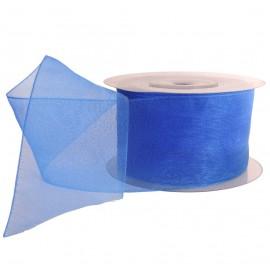Cinta Organza 40 mm Azul