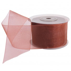 Cinta Organza 40 mm Marron