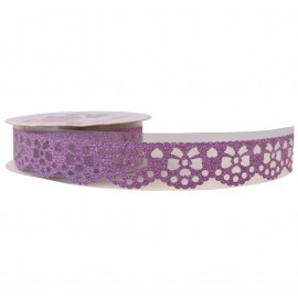 Washi Tape Brillo Lazo Rosa