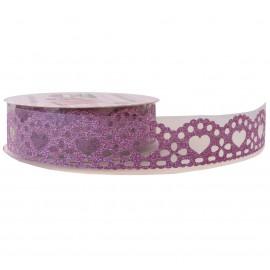 Washi Tape Brillo Corazon Rosa