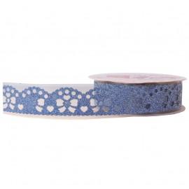 Washi Tape Brillo Lazo Azul