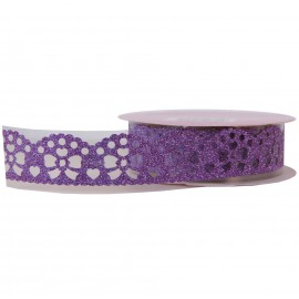 Washi Tape Brillo Lazo Morado