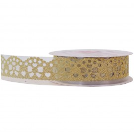 Washi Tape Brillo Lazo Oro