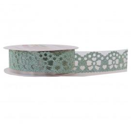 Washi Tape Brillo Lazo Verde