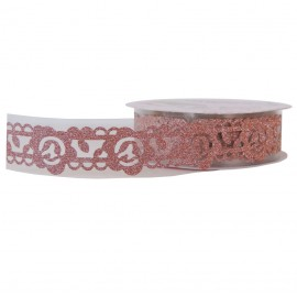 Washi Tape Brillo Flor Melocoton