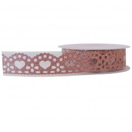 Washi Tape Brillo Corazon Melocoton