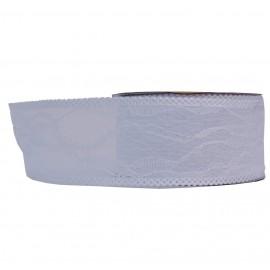 Tela con Encaje Blanco 4cm