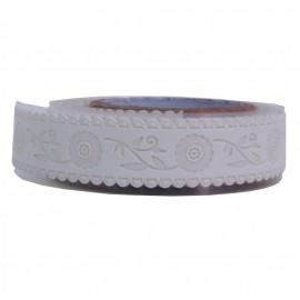 Washi Tape Blanco Girasol