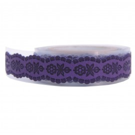 Washi Tape Morado Margaritas