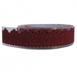 Washi Tape Rojo Flores