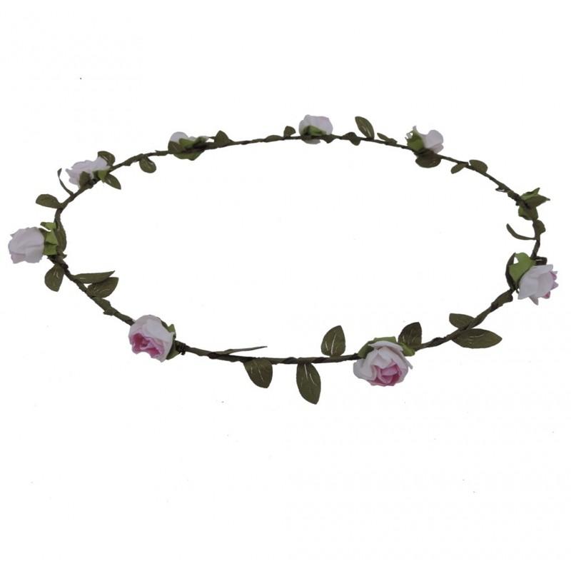 Corona Flores Rosa Ø 18 cm