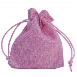 Bolsa Yute Rosa ↕12 x 9 cm