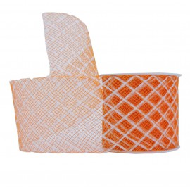 Cinta Elastica Cuadros 40mm Naranja
