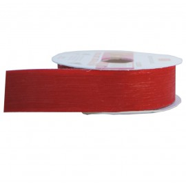 Cinta Plastico Brillo 30mm Rojo