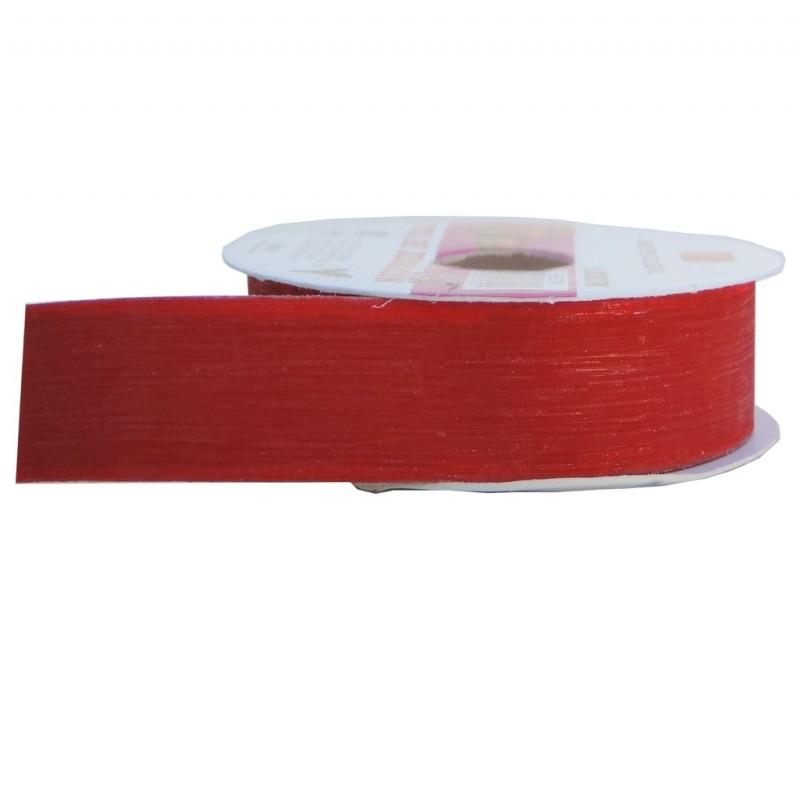 Cinta Plastico Brillo 30mm Rojo