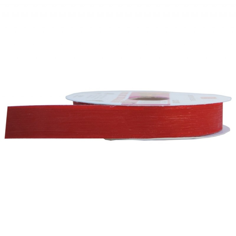 Cinta Plastico Brillo 12mm Rojo