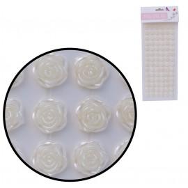 Rosas Marfil 10 mm Stickers