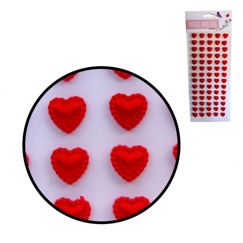 Corazones Rojos 10 mm Stickers