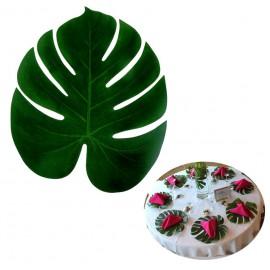 Hoja Palmera Tropical 35x29 Verde
