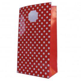 Bolsa Lunares Rojo 18x10 cm
