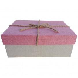 Caja Rosa Cuerdas 22x9 cm