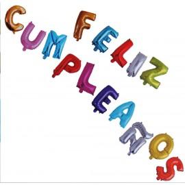 Globo Feliz Cumpleaños Foil (15 uds)