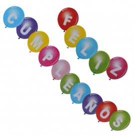 Globos Feliz Cumpleaños Latex (15 uds)