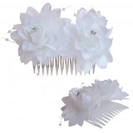 Peineta Doble Flor 11 cm