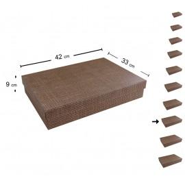Caja Carton Yute 42x33 cm