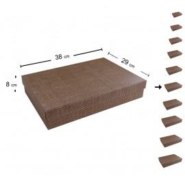 Caja Carton Yute 38x29 cm