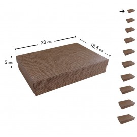 Caja Carton Yute 28x18.5 cm