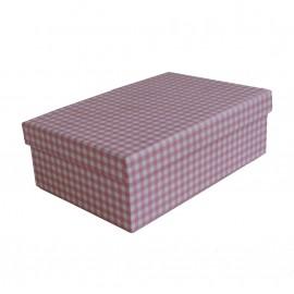 Caja Rosa Cuadros Rosa 14x9 cm