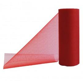 Cinta Organza Rojo 14cm x ↕9mts