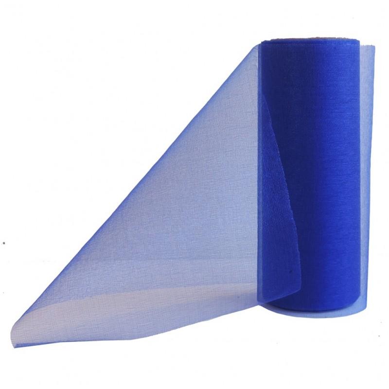 Cinta Organza Azul 14cm x ↕9mts