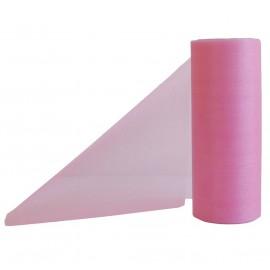 Cinta Organza Rosa 14cm x ↕9mts