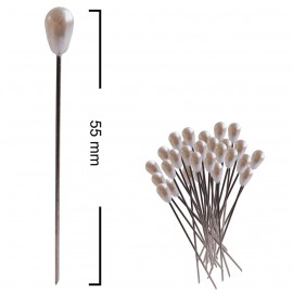 Alfiler Lagrima 55 mm Perla (120 ud)