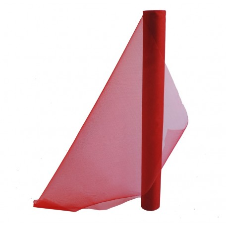 Organza 48 cm x 4,5 mts Rojo