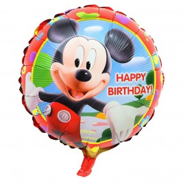 Globo Mickey Happy Birthday Ø44cm Foil