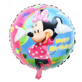 Globo Minnie Happy Birthday Ø44cm Foil