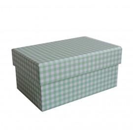 Caja Verde Cuadros 11,5x7,5 cm