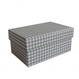Caja Verde Oscuro Cuadros 11,5x7,5 cm
