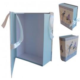 Caja Libro Pajaro/Lavanda Grande 27,5x22x9,5