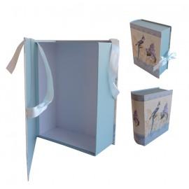 Caja Libro Pajaro/Lavanda Grande 24,5x18,5x8 cm