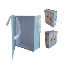 Caja Libro Pajaro/Lavanda Grande 21,5x16x6,5 cm